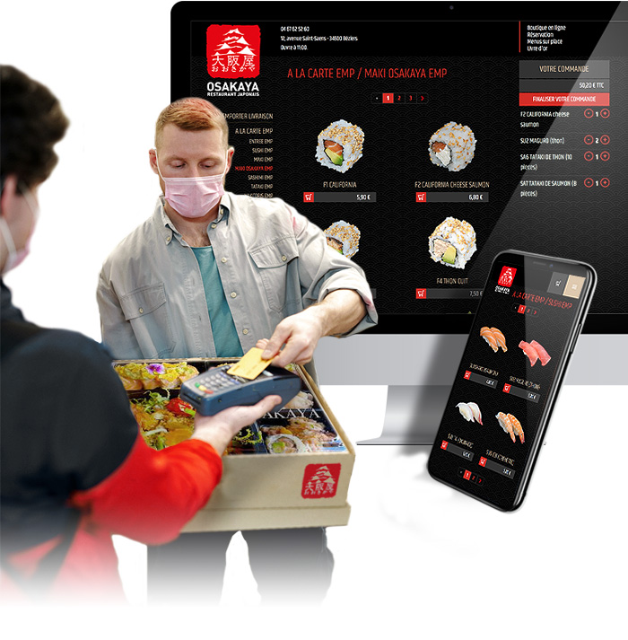 Solution click'n'collect pour le restaurant Osakaya